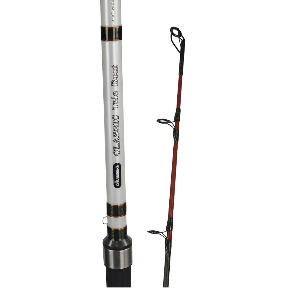 Classic Tele Boat Rod - Okuma Classic Tele Boat Rod-Mixed UFR strengthened blanks-Quality saltwater resistant components-2 interchangeable tips-soft and heavy