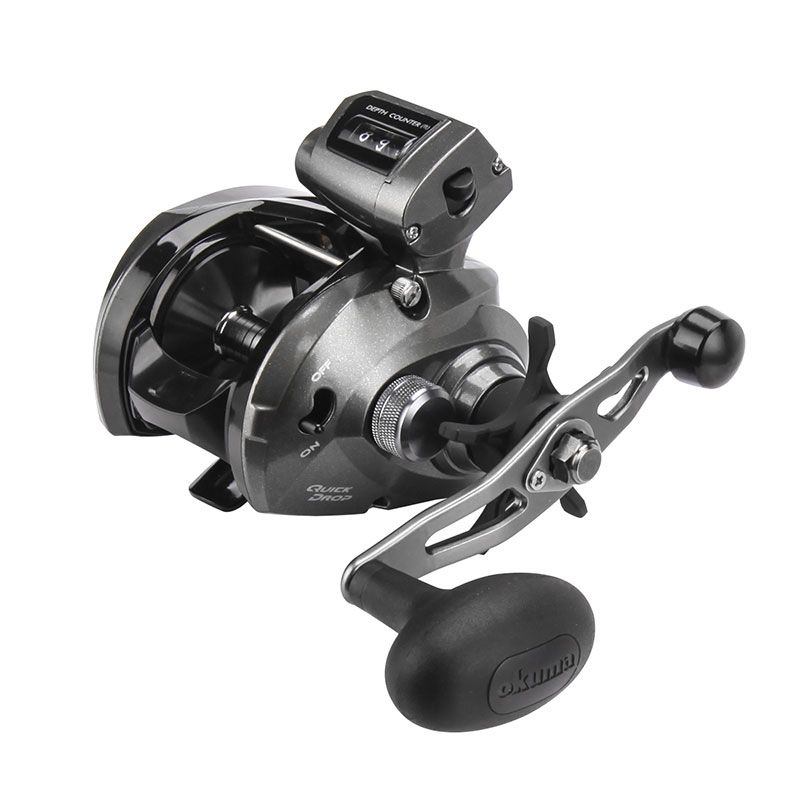Convector Low Profile Line Counter Reel - Convector Low Profile Line Counter Reel -Mechanical line counter function measures in feet-A6061-T6 machined aluminum, anodized spool-Quick Drop, switch for precision lure/bait placement