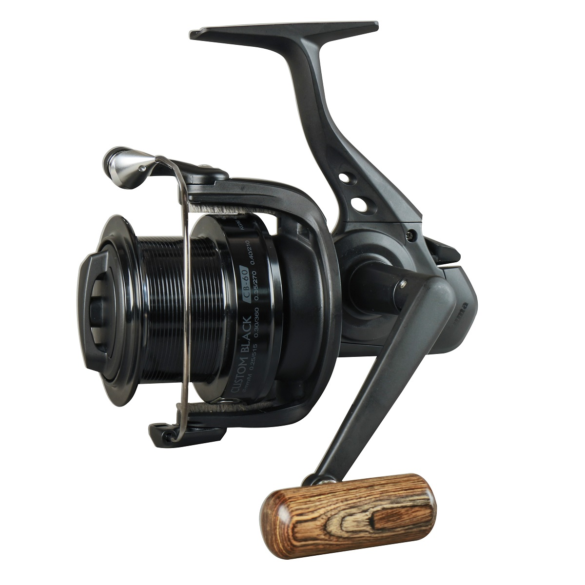 Custom Black Spinning Reel - Custom Black Spinning Reel