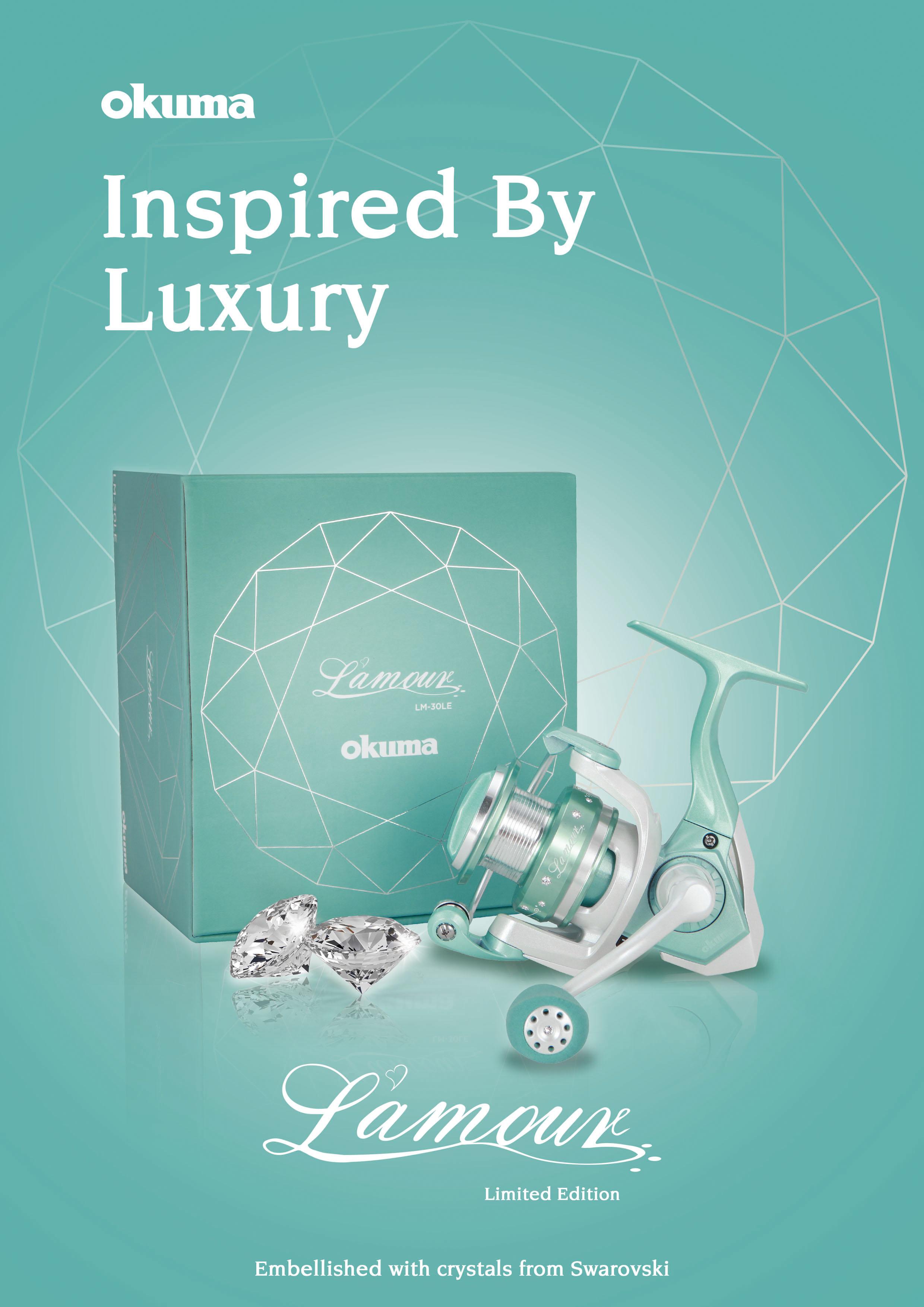 L'amour Spinning Reel (Limited Edition) - Okuma L'amour Spinning Reel-Limited Edition-13 Swarovski Crystals