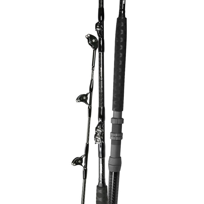 PCH Custom Trolling Rod (2021 NEW) - Okuma PCH Custom trolling Rod- Durable 24-ton carbon and E-Glass constructed rod blanks- 3K-woven carbon outer blank wrap improves hoop strength- ALPS RX series roller guides with 316 stainless steel rollers