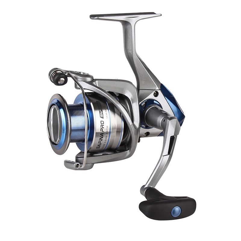 Safina Pro Spinning Reel  (2021 NEW) - Okuma Safina Pro Spinning Reel- corrosion-resistant graphite body -cyclonic flow rotor- new graphite handle-quick set infinite anti-reverse system