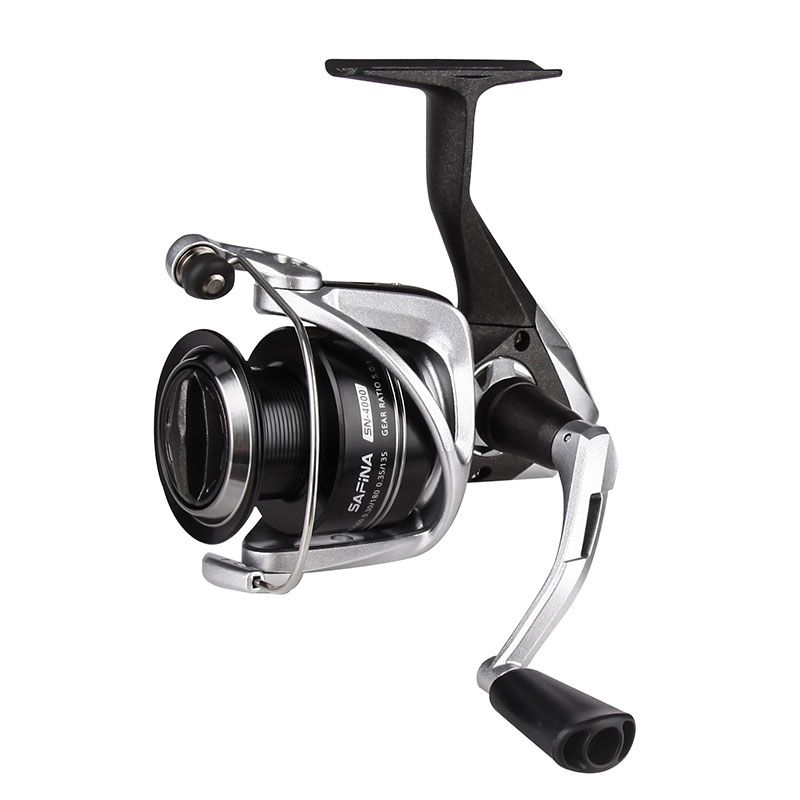 Safina Spinning Reel (2021 NEW) - Okuma Safina Spinning Reel- corrosion-resistant graphite body- cyclonic flow rotor- new graphite handle- quick set infinite anti-reverse system