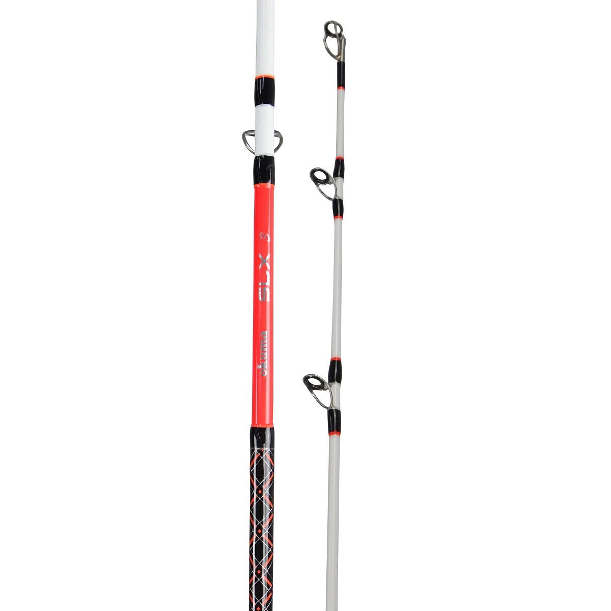 SLX Rod - Okuma SLX Rod-citlivý a odolný 24tunový uhlíkový blank blank-Split rukojeť spojovací objímka, pro přirozené ohyby a snadný transport-Obrobené hliníkové sedlo navijáku s extra pojistnou maticí