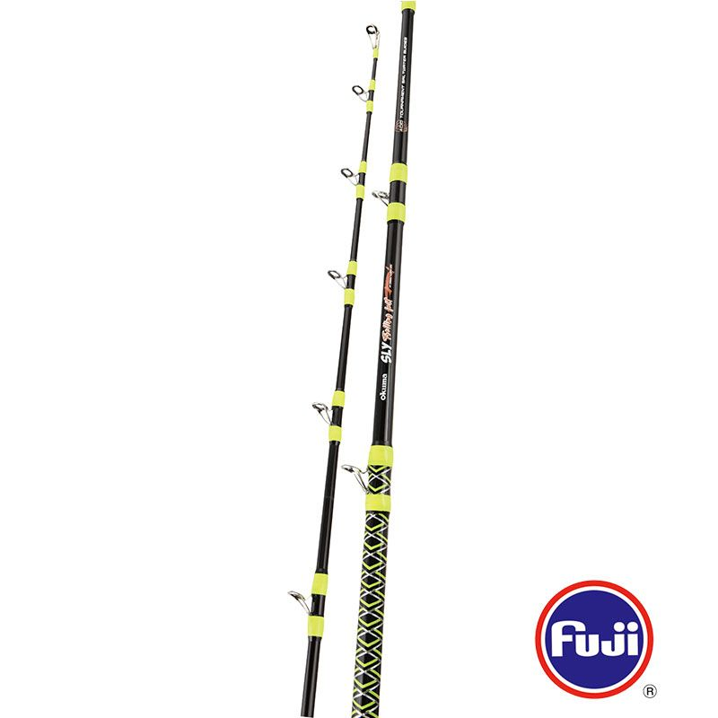 SLY Rod (2020 new) - SLY Rod (2020 new) -Special spiral guides design for all trolling and tuna rods-Durable E-glass blank construction-Fuji K-concept tangle free guides with Alconite inserts