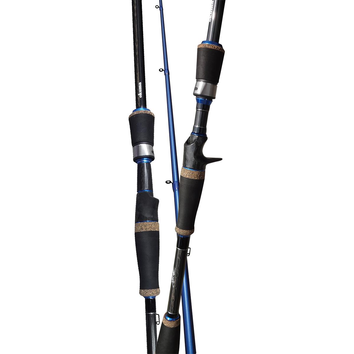 Tige TCS - Canne Okuma TCS - Conçue par des pêcheurs professionnels à succès - Scott Martin pour la pêche de concept de tournoi - Construction ultra sensible en carbone 30T - Poignée divisée en EVA et poignée avant en EVA pour un poids et une sensation réduits