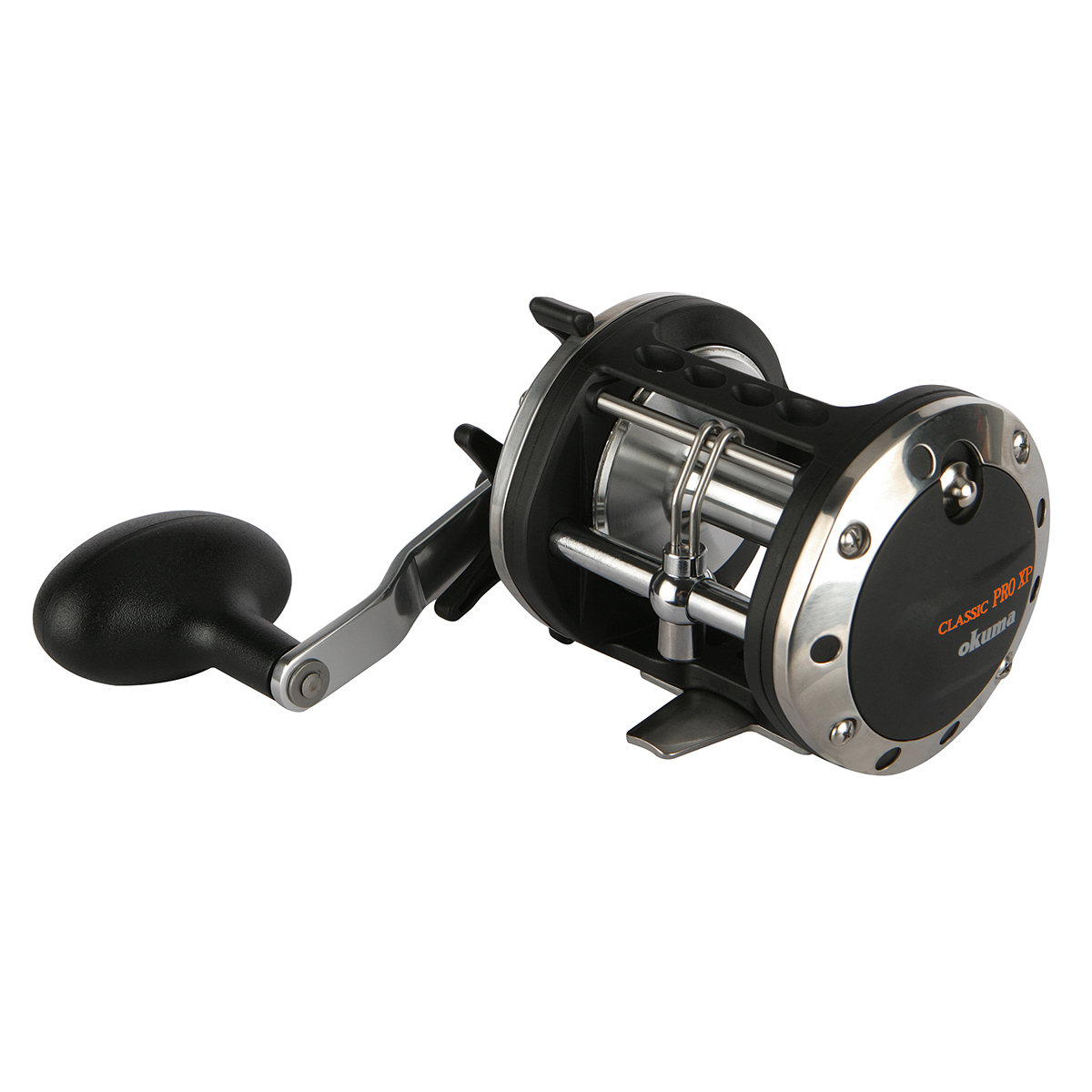 Classic Pro Star Drag Reel - Okuma Classic Pro Star Drag Reel-Stainless steel reel foot for strength-Aluminum power handle with T-style knobs-Stainless steel levelwind line guide system