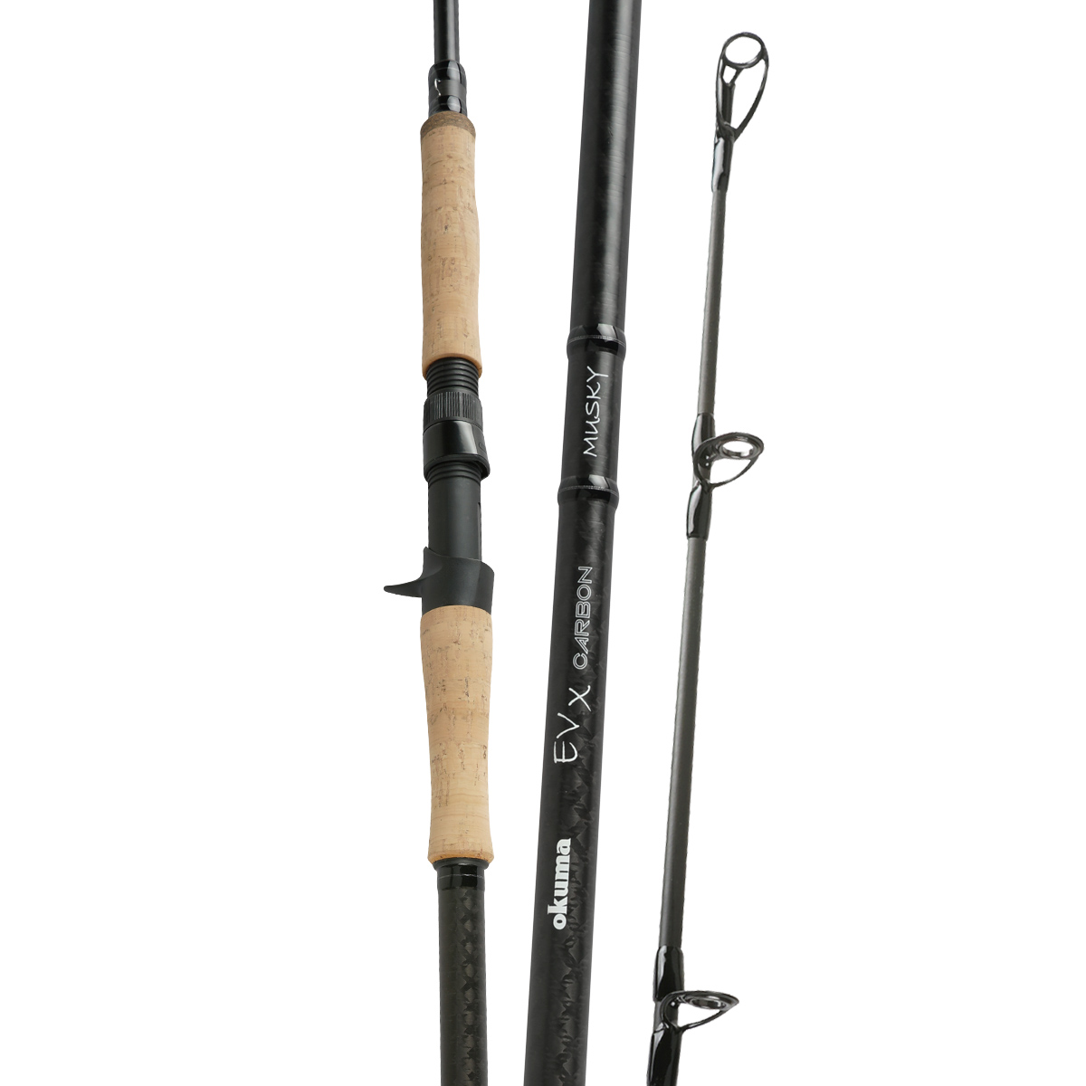EVX Carbon Rod - Okuma EVX Carbon Rod-Professional level bass fishing rods -30-Ton ultra-sensitive and responsive carbon blank construction