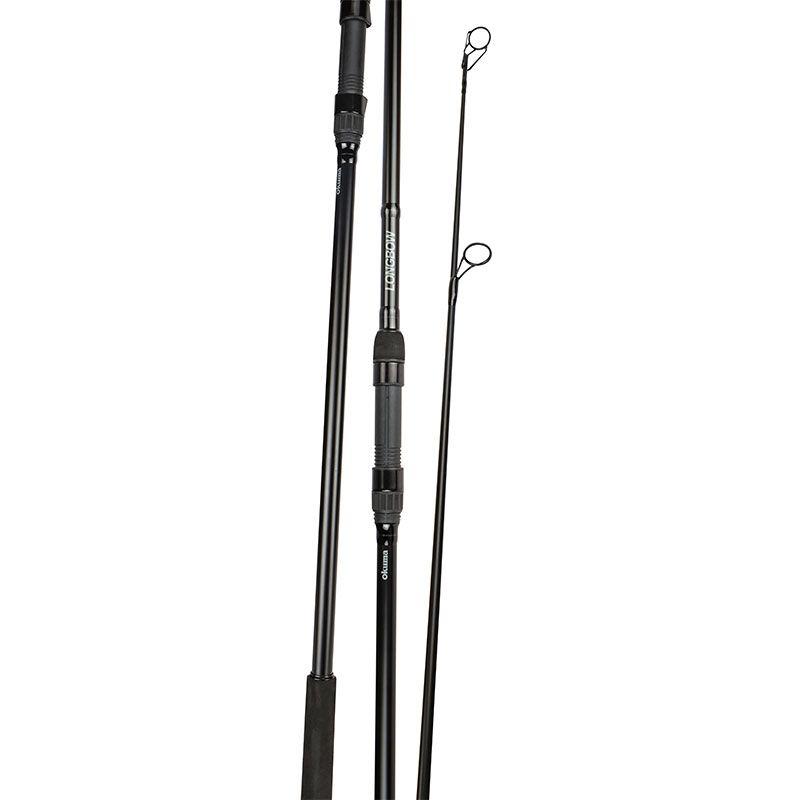Longbow Carp Rod (2021 NEW) - Okuma Longbow Rod- Durable carbon blanks construction- Okuma DPS pipe reel seat - Quality stainless steel minima guides