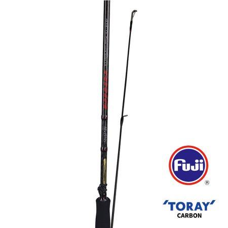 Aria Egi Rod - Okuma Aria Rod-40T Toray ultra-light carbon blank construction-Fuji KR stainless steel frame guides-Fuji Alconite inserts reduce friction-Fuji VSS reel seat and Fuji slidable hook keeper