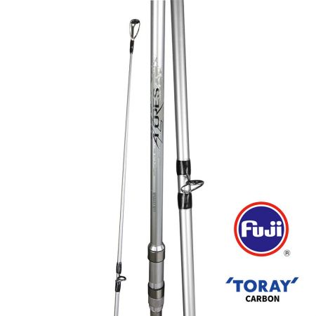 Azores Surf Rod - Okuma Azores Surf Rod-40T high modulus Toray carbon blank construction-Fuji deep press resistant guide frames-Fuji Alconite insert for braided line friction- Fuji DPS pipe reel seat