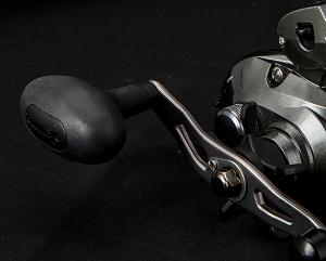 Poignée en métal rigide avec bouton en Tpe Ergo Grip