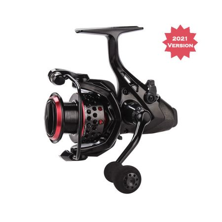 Ceymar Baitfeeder Spinning Reel (2021 NEW) - Okuma Ceymar Baitfeeder Spinning Reel- on/off auto trip bait feeding system- Heavy duty solid aluminum bail wire- Rigid metal handle design for strength- 7BB+1RB stainless steel bearings