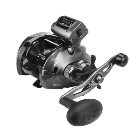 Convector Low Profile Line Counter Reel - Okuma Convector Low Profile Line Counter Reel -Mechanical line counter function measures in feet-A6061-T6 machined aluminum, anodized spool-Quick Drop, switch for precision lure/bait placement
