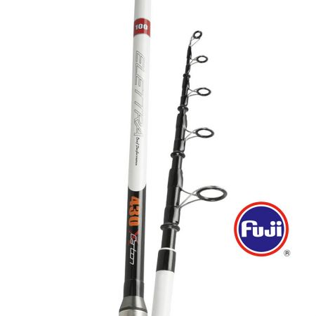 Elettea Surf Rod - Okuma Elettea Surf Rod-24T and 30T carbon blank construction with solid carbon tip-Fuji resistant guides-Fuji DPS pipe reel seat