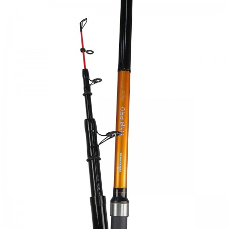 Fina Pro Tele Surf Rod - Okuma Fina Pro Tele Surf Rod-24T carbon ultra-responsive blank construction-Stainless steel deep-drawn frame protect the inserts-Okuma graphite reel seat