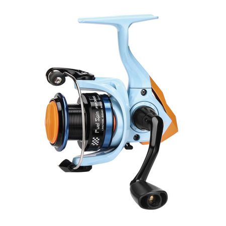 Fuel Spin Spinning Reel - Okuma Fuel Spin Spinning Reel-Special appearance through the color of classic race car-Corrosion resistant graphite body and rotor-Cyclonic Flow Rotor technology