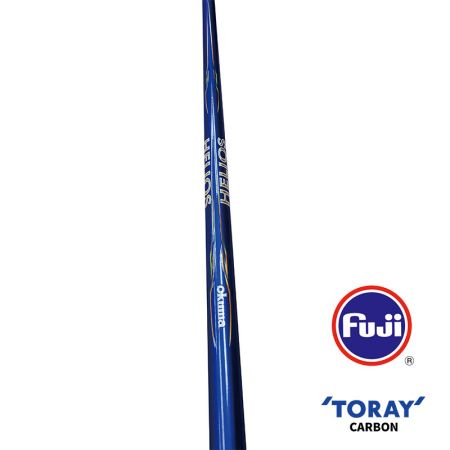 Helios Bolo Rod (2021 NEW) - Okuma Helios Bolo Rod- 40T Toray carbon material, slim, light and powerful blank construction- Fuji Saltwater resistant guides with Alconite inserts- Fuji NS stainless steel plate reel seat