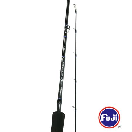 Hawaiian Custom Popping Rod - Okuma Hawaiian Custom Popping Rod-Light and responsive 24/30-Ton, low resin carbon rod blanks-Premium Fuji reel seat-Tapered TPE foregrip with TPE rear split grips