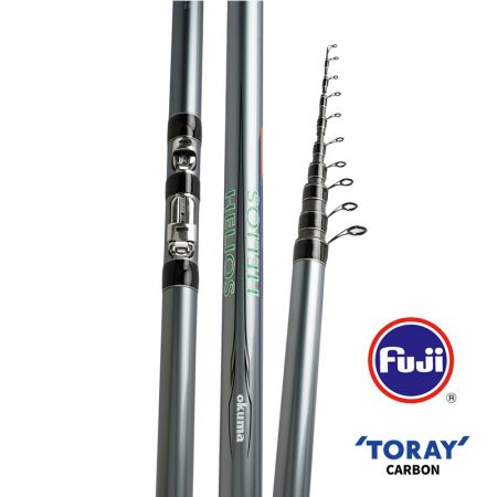 Helios Bolo Rod - Okuma Helios Bolo Rod-40T Toray carbon material, slim, light and powerful blank construction-Fuji Saltwater resistant guides with Alconite inserts-Protected in a quality guide cover