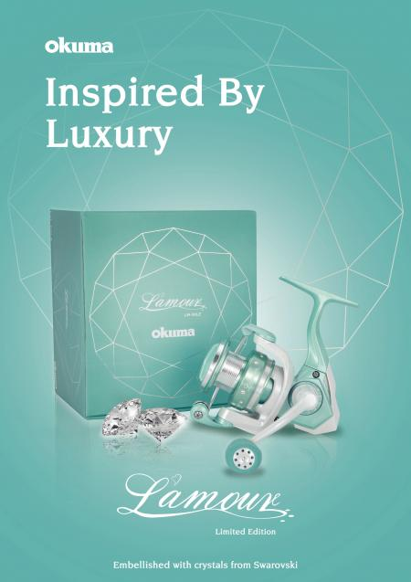 L'amour Spinning Reel (Limited Edition) - Okuma L'amour Spinning Reel-Limited Edition-13 Swarovski Crystals