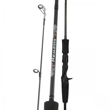 Nemesis Rod - Okuma Nemesis Rod-Available for casting rods, spinning rods and a 4-pcs travel design rod-High modulus ultra-light carbon blank construction