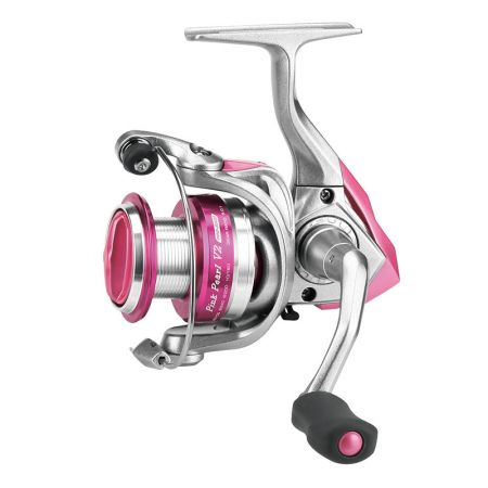 Pink Pearl V2 Spinning Reel - Okuma Pink Pearl V2 Spinning Reel-Corrosion resistant graphite body and rotor-TPE soft touch handle knob-Cyclonic Flow Rotor technology