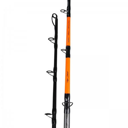 Silver Star Rod - Okuma Silver Star Rod-E-glass blank construction for maximum durability-Zirconium guides inserts reduce friction from braided lines-Separable butt on the reel seat for easy carrying