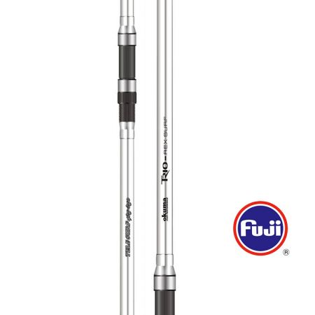 Trio-Rex Tele Surf Rod - Okuma Trio-Rex Tele Surf Rod-Powerful 30T carbon blank-Fuji MN frame with O-ring guide-Fuji DPS reel seat-Durable and comfortable special handle design