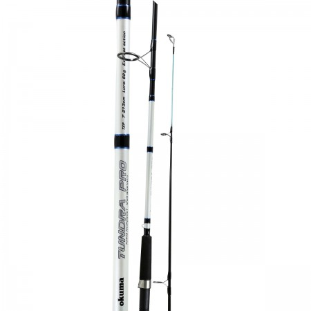 Tundra Pro Rod - Okuma Tundra Pro Rod-Durable glass fiber rod blank construction-Reinforced double footed guides-Stainless steel hooded reel seats-Comfortable EVA foam fore and rear grips