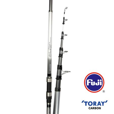 Wave Power Tele Surf Rod (2021 NEW) - Okuma Wave Power Tele Surf Rod- 24T GT blank construction, Saltwater resistant deep press guides- visual white tip section