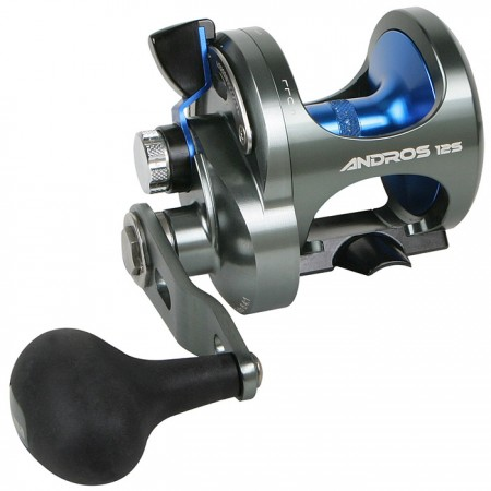 Andros Single Speed Lever Drag Reel - Okuma Andros Single Speed Lever Drag Reel-High Speed 6.4:1 gear ratio-Dual anti-reverse system including mechanical and roller bearing systems-Dual Force Drag System