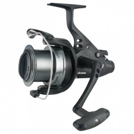 Axeon Baitfeeder Spinnrolle - Okuma Axeon Baitfeeder Spinning Reel-Karpfenangeln - On / Off Auto Trip Köderfütterungssystem - Dual Force Drag System