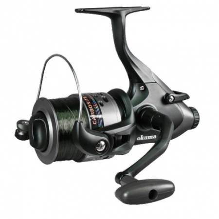 Carretel giratório Carbonite XP Baitfeeder - Okuma Carbonite XP Baitfeeder Spinning Reel-On / Off auto trip sistema de alimentação de iscas-Precsion Elliptical Gearing System
