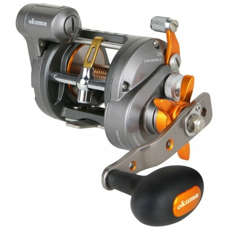 Coldwater Line Counter Reel - Okuma Coldwater Line Counter Reel-Clear View Technology anti-fogging line counter-Heavy-duty machine cut brass gears-Dual anti-reverse system-Full Carbonite drag system with up to 7kg of maximum drag output
