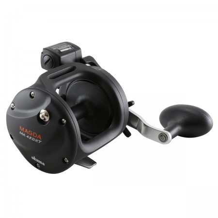 Magda Pro Line Counter Reel - Okuma Magda Pro Line Counter Reel-Lightweight, corrosion-resistant frame and side plates-Mechanical line counter function measures in feet