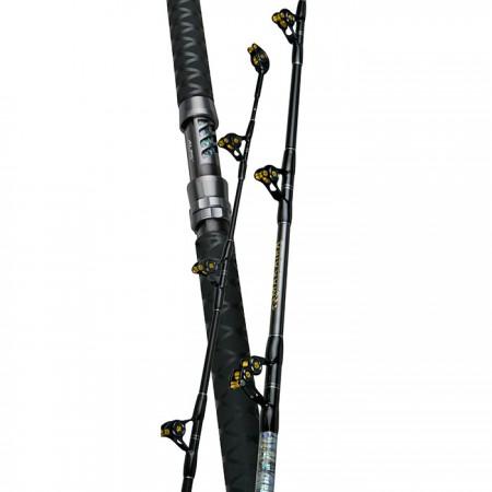 Makaira Big Game Rod - Okuma Makaira Big Game Rod-Carbon composite rod blank technology-IGFA tournament rods with full straight or bent aluminum rod butts