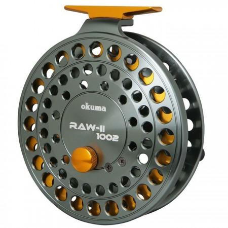 Rawii Float Reels - Bobinas de flutuador Rawii - Carretéis de flutuador Okuma Rawii - armação de alumínio usinado com precisão 6061-T6 e carretel - Durável tipo II, armação e carretel anodizado em dois tons