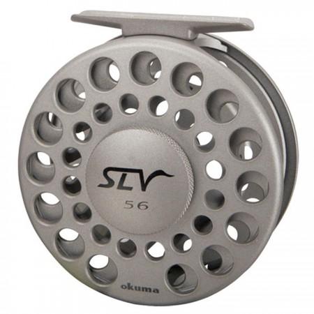 SLV Fly Reel - Okuma SLV Fly Reel-Die cast aluminum frame-Precision machined stainless steel spool shaft-Multi-Disk Cork and Stainless Steel Drag system