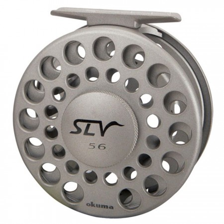 SLV Fly Reel - SLV Fly Reel - Okuma SLV Fly Reel-Die frame de alumínio fundido-eixo de bobina de aço inoxidável usinado com precisão-Multi-Disk Cork e sistema de arrasto de aço inoxidável