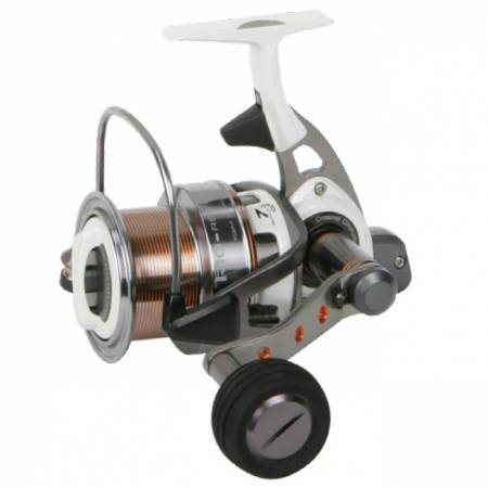 Trio Rex Salt Spinning Reel - Okuma Trio Rex Salt Spinning Reel-Long spool for distance casting-Crossover Construction aluminum body and rotor-6BB+1RB Stainless steel bearings