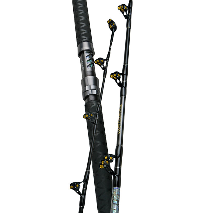 Makaira Big Game Rod - Okuma Makaira Big Game Rod-Carbon composite rod blank technology-IGFA tournament rods with full straight or bent aluminum rod butts