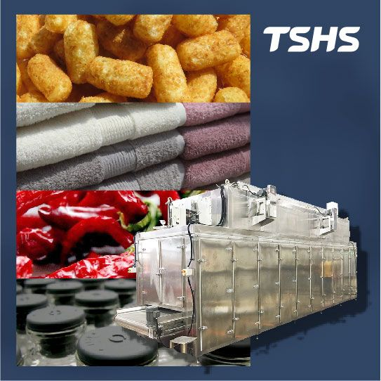 Continuous conveyor industrial dryer