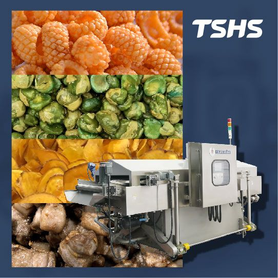 Multi-functional continuous frying machine