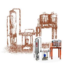 真空油と水分離器