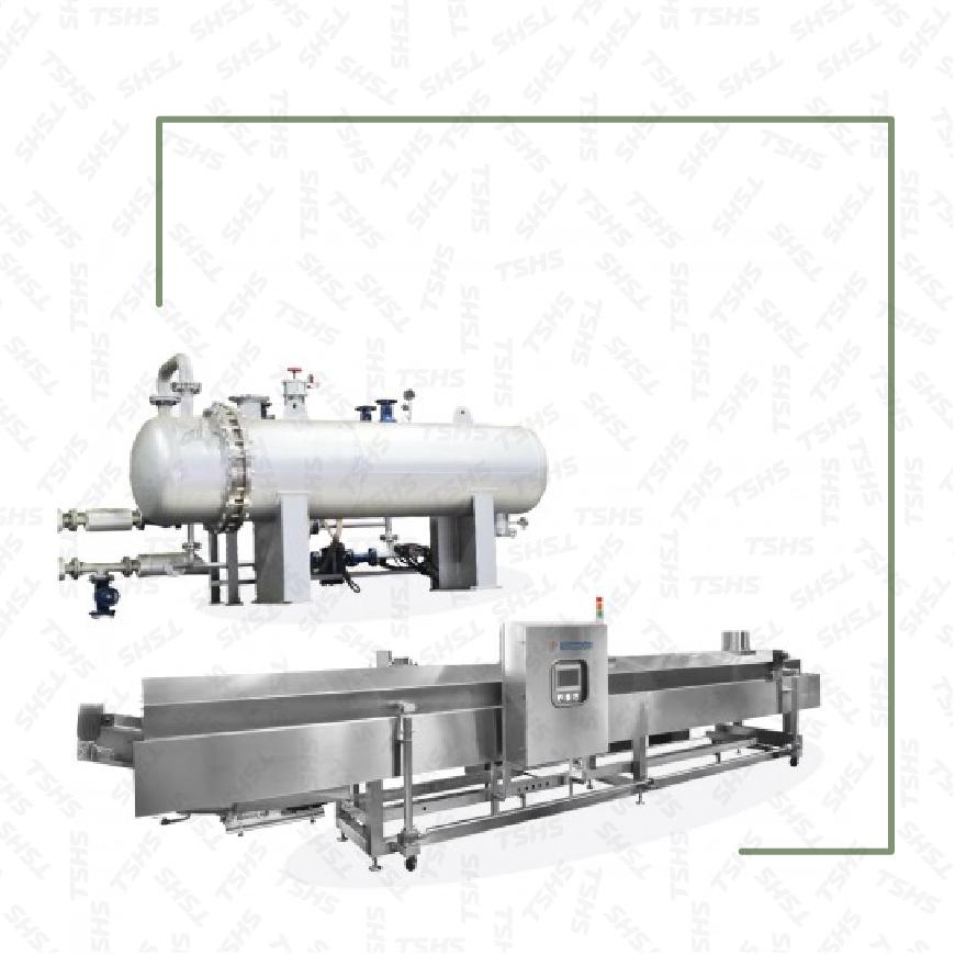 Freidora de aceite con cambiador de calor continuo tipo vapor