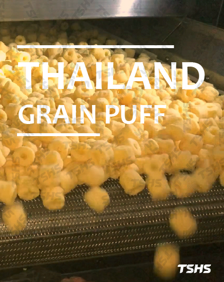 THAILAND- GRAIN PUFF PRODUCTION LINE- ROTARY SEASONING DRUM