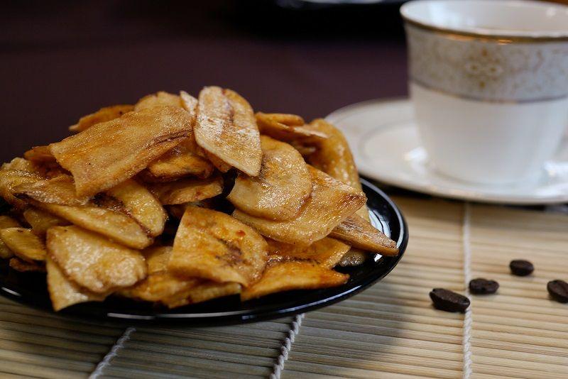 Fried Sugared Banana Chips