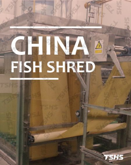 KINA - Prženi ribani krekeri 、 Zeleni grašak - fish_shred_production_line