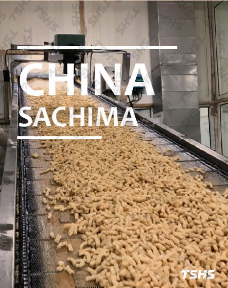 China- Sachima fine continui, editions Filter - Revera, lectio continua-Sinis Sachima Frying Machina,